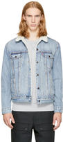 Levi's Levis Blue Denim Type 3 Sherpa Trucker Jacket