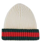 Gucci Webbed Trim Beanie Hat