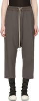 Rick Owens Grey Drawstring Cropped Lounge Pants