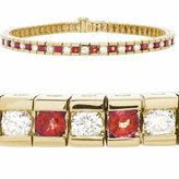 Amoro 14kt Yellow Gold Ruby and Diamond Bracelet
