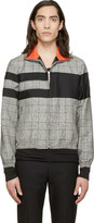 Kris Van Assche Krisvanassche Black Check and Stripe Wool Jacket