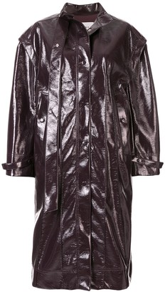 Irene Patent Style Coat