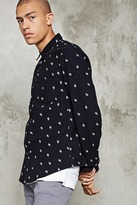 Forever 21 Slim-Fit Cactus Print Shirt