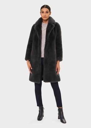 Hobbs Georgia Faux Fur Collar Coat