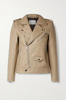 Thumbnail for your product : Deadwood + Net Sustain River Leather Biker Jacket - Neutrals