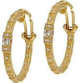 Judith Ripka 14K Clad Diamonique Estate StyleHoop Earrings