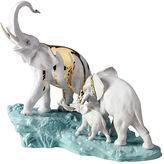 Lladro Elephants Walking Porcelain Accessory