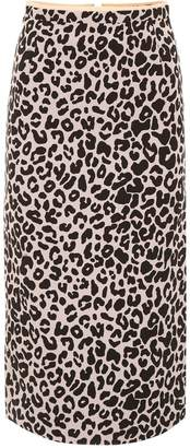 N°21 N21 Leopard Print Pencil Skirt