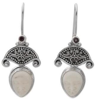 Novica Handmade Amethyst Dangle Earrings, 'Janger Duet'