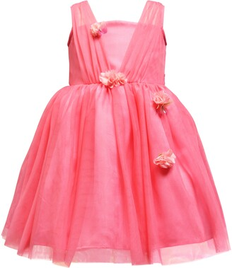 Ava & Yelly 3D Detail Tulle Party Dress