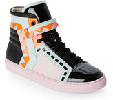 Sophia Webster Pink & Black Riko High Top Sneakers