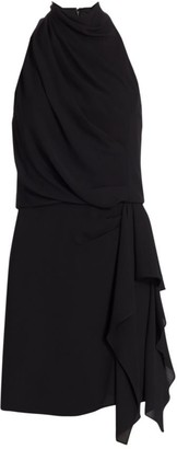 Halston Draped Cocktail Dress