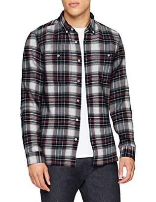 Edwin Men's's Tripple 10 Check Shirt Casual (Oxblood Red OXR67), (Size:XXL)