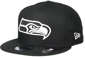 New Era NFL Basic Snap 9FIFTY Snapback Cap - Seattle Seahawks (Black 1) Caps