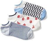 Mix-print ankle socks (3-pairs)