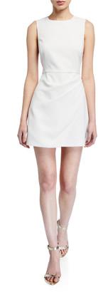 Alice + Olivia Kelsey Asymmetrical Draped Dress
