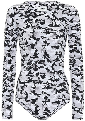 MM6 MAISON MARGIELA Camo stretch-jersey bodysuit