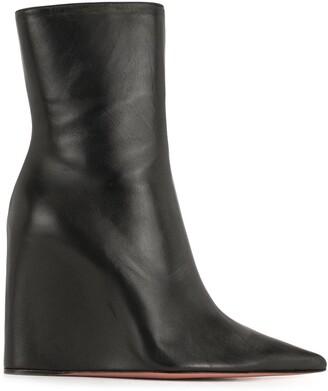 Amina Muaddi Pointed Wedge Boots