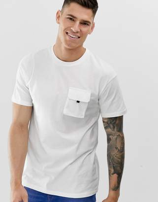 Jack and Jones Core box fit utility t-shirt in white