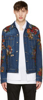 Dolce & Gabbana Indigo Embroidered Denim Jacket
