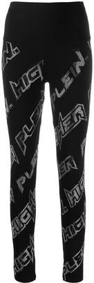 Philipp Plein Space rhinestone leggings