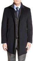 Hart Schaffner Marx Men's 'Kingman' Classic Fit Wool Blend Coat With Removable Zipper Bib