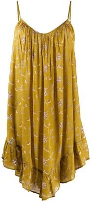 Mes Demoiselles Floral Print Asymmetric Dress
