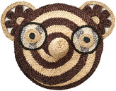 Anne Claire Bear Straw Face - Chocolate