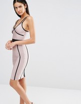 Missguided Contrast Binding Bodycon Dress