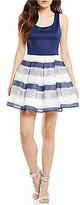 Teeze Me Striped Skirt Skater Dress