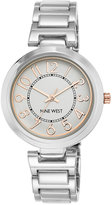Nine West Women's Stainless Steel Bracelet Watch 36mm NW-1893SVRT