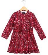 Oscar de la Renta Girls' Floral Print A-Line Dress