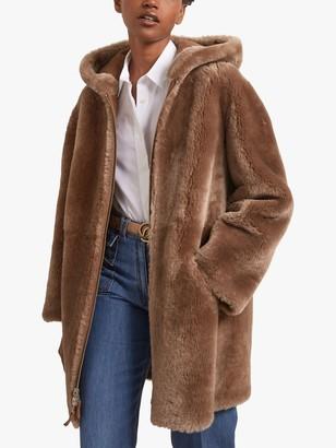 Gerard Darel Eve Reversible Coat, Brown