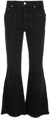 Thierry Mugler Cropped Flared Jeans
