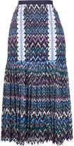 Saloni pleated midi skirt - women - Polyester - 10