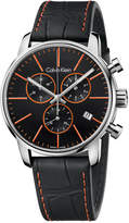 Calvin Klein Men's Swiss Chronograph City Black Leather Strap Watch 43mm K2G271C1