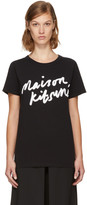 MAISON KITSUNÉ Black Handwriting Logo T-shirt