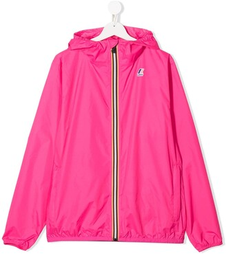 K Way Kids TEEN hooded shell jacket