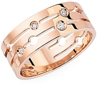 Dinh Van Pulse 18K Rose Gold & Diamond Medium Ring