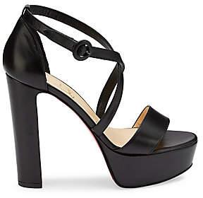 Christian Louboutin Women's Loubi Bee Platform Leather Sandals