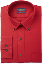 Club Room Men's Estate Big and Tall Classic/Regular Fit Wrinkle Resistant Claret Solid Dress Shirt, Only at Macy's