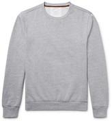 Paul Smith Elbow-patch Fleece-back Cotton-jersey Sweatshirt - Gray