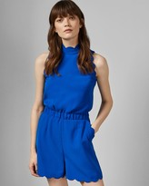 Ted Baker High Neck Scallop Playsuit