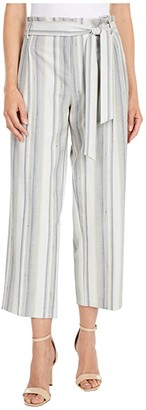 Lisette L Montreal Paloma Stripe Paper Bag Crop Palazzo Pants (Beige) Women's Casual Pants