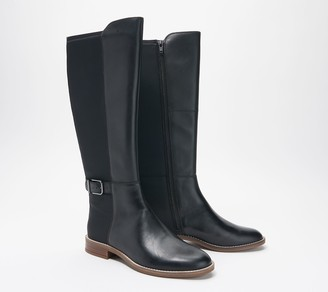 Clarks Collection Wide Calf Leather Boots - Camzin Tree