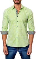 Jared Lang Embossed Long Sleeve Trim Fit Shirt