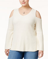 Style&Co. Style & Co Plus Size Cold-Shoulder Sweater, Only at Macy's
