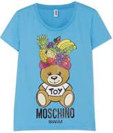Moschino Fashion Fruits Printed Cotton-jersey T-shirt - Blue
