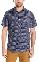 Nautica Men's Classic Fit Short Sleeve Fish Print Shirt