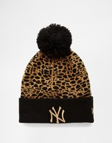 New Era Boston Leopard Bobble Hat